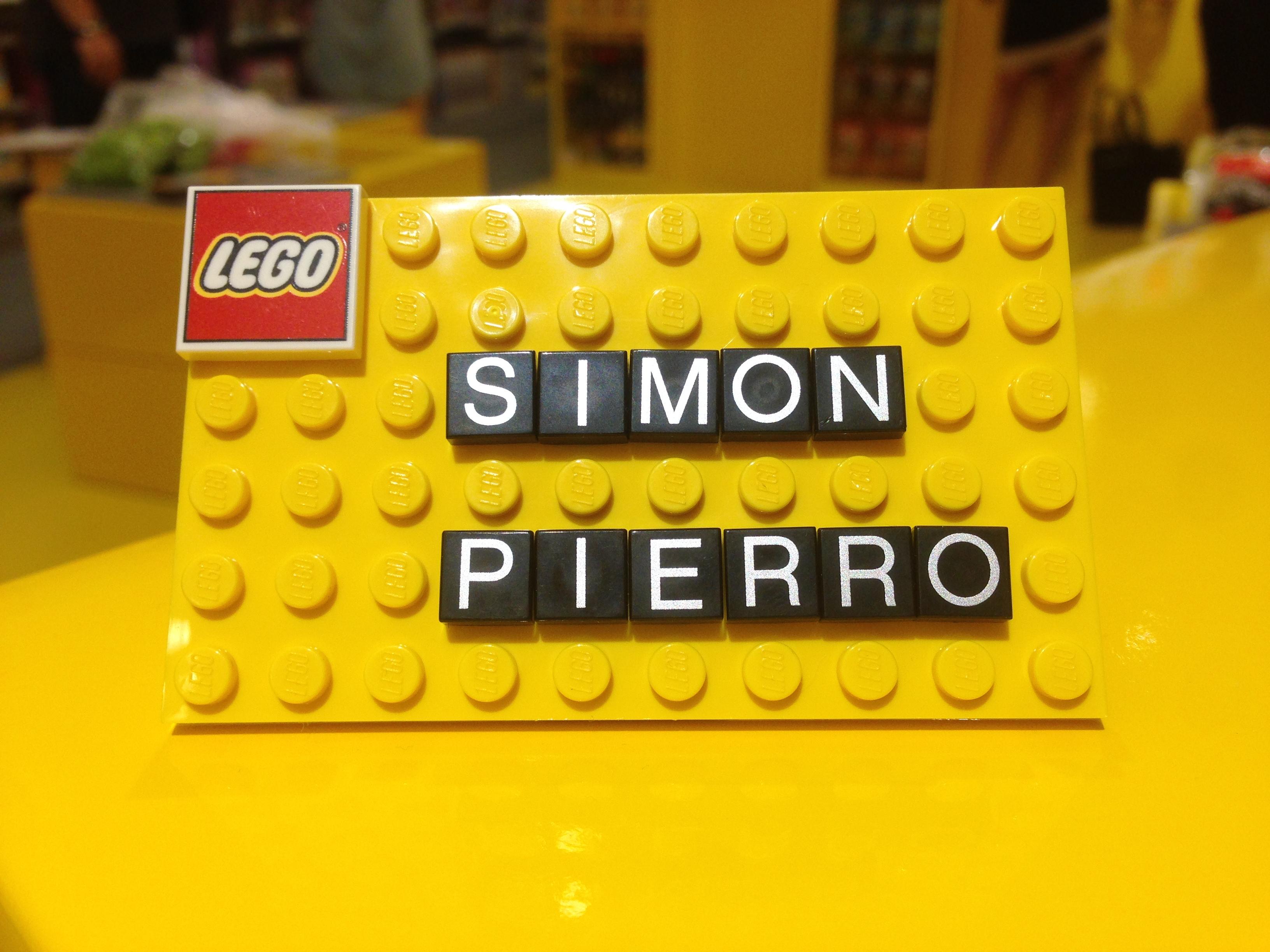 Mein Name auf einer LEGO-Platte