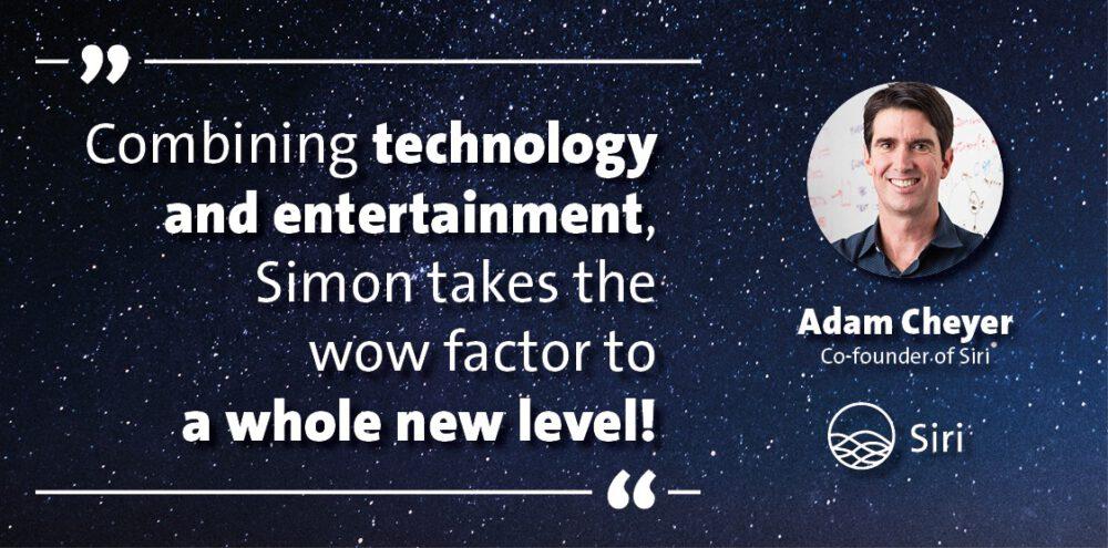 Zitat zu World Wide Wonders - Die Virtuelle Zaubershow - Siri Gründer Apple