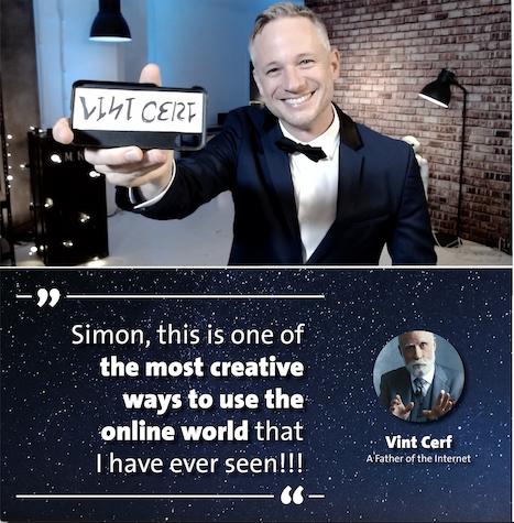 Vint Cerf Testimonial Simon Pierro Digitaler Magier